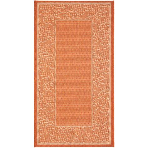 Home Depot Indoor Outdoor Rugs Safavieh Courtyard Terracotta 2 Ft 7 In X 5 Ft Indoor Outdoor Area Rug Cy2666 3202 3