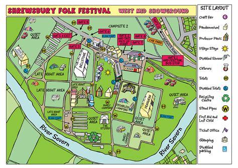 festival directions festival maps shrewsbury folk festival