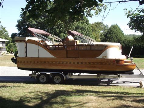diy wooden pontoons wooden pontoon boat ready for the lake my wooden pontoon