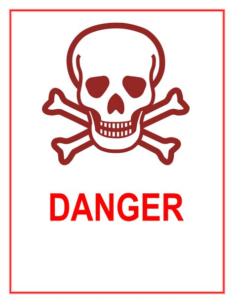 The Danger danger sign template www pixshark images galleries