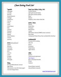 clean food list printable to simply inspire