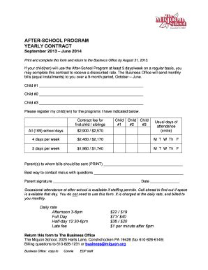 Behavioral Contract Psychology Forms And Templates Fillable Printable Sles For Pdf Word After School Program Contract Template