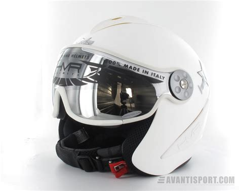 Helm Hmr hmr white with leahter wintersport helm avantisport nl