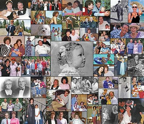 picture collage board birthday photo collage birthday gift idea using