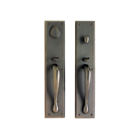 Exterior Door Hardware Sets by Rectangular Entry Set 3 1 2 Quot X 18 Quot Entry Thumblatch