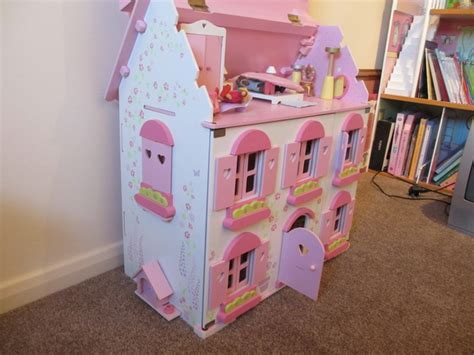 elc dolls houses elc rosebud dolls house with furnature sets and family ebay