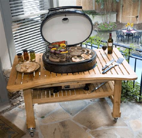 Primo Grill Table by Www Fsfireplace Primo Grills Teak Table For Oval Xl Grill