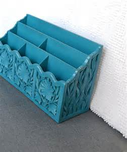 Teal Desk Accessories Vintage Desk Organizer By Beautishe Contemporary Desk Accessories By Etsy