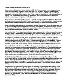 Example Of College Essay Good Examples Of College Essays