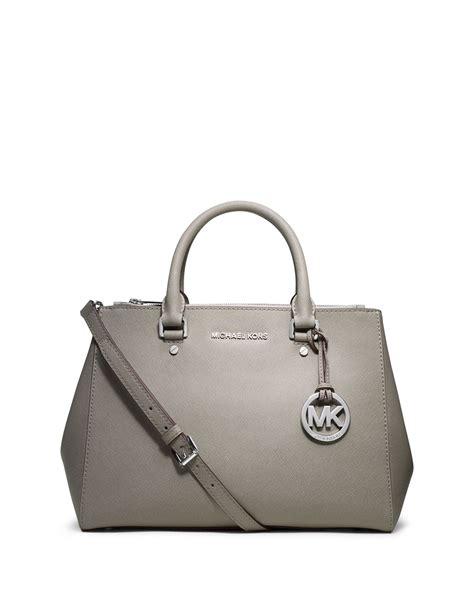 Michael Kors Satchel Bag michael michael kors sutton medium satchel bag in gray pearl lyst