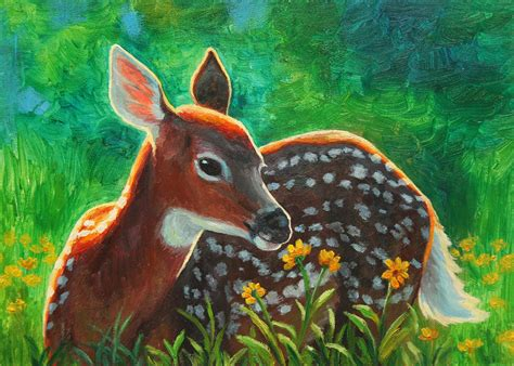 bob ross painting deer deer painting by crista forest