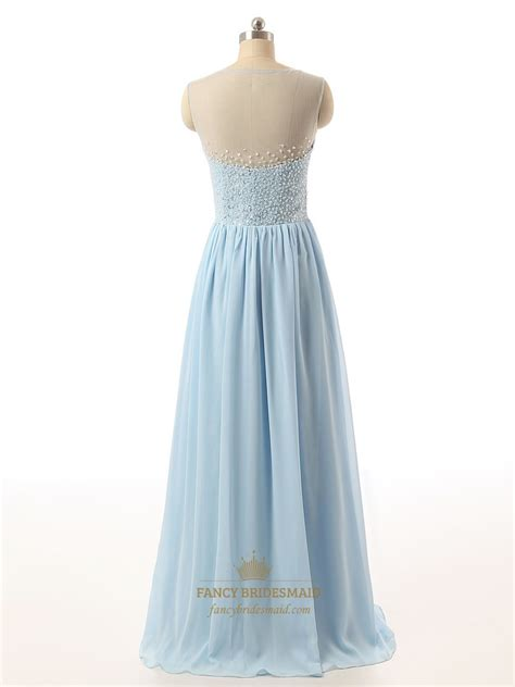 beaded blue dress light blue sequin bodice bridesmaid dress with beaded