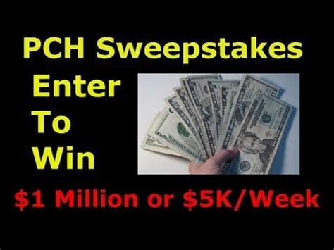 Pch 5000 A Week For Life Entry - pch com win 1 million 5000 a week for life