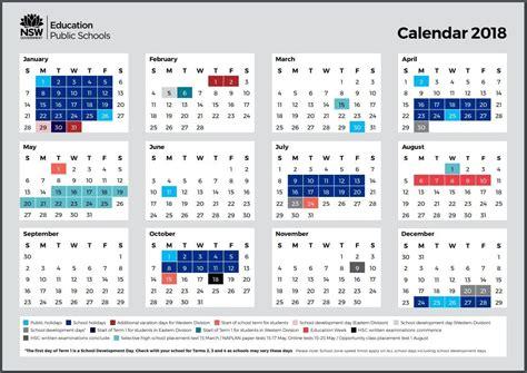remarkable  school calendar nsw printable blank calendar template