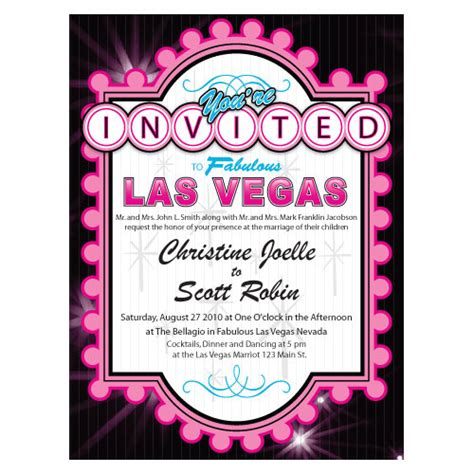 Wedding Invitations Vegas by Wedding Invitation Ideas Todaysbride Ca