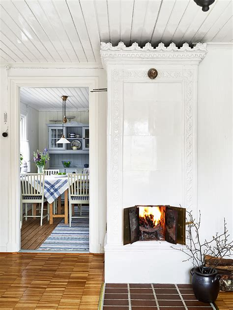 swedish fireplace my scandinavian home a pretty swedish summer cottage