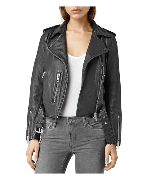 Allsaints Balfern Biker Jacket allsaints balfern leather biker jacket in black lyst