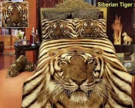 Tiger Bed Set Siberian Tiger Print 6pc Comforter Set