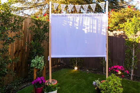 how to make a backyard movie screen how to make an easy outdoor movie screen hgtv