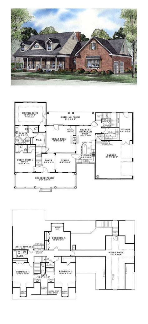 5 bedroom cape cod house plans cape cod houses cape cod and house plans on pinterest