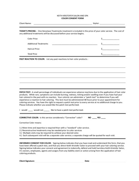 spa client intake form template skin care client intake form template hairsstyles co