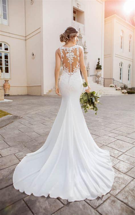 lace  chiffon beach wedding dress  illusion bodice