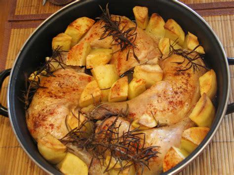 cuartos de pollo al horno argui ano pollo con falsas patatas receta dukan