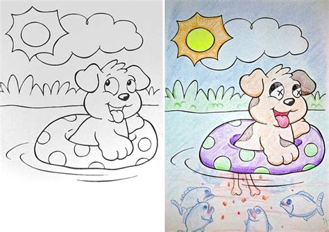 Coloring Book Corruptions See What Happens When Adults Do