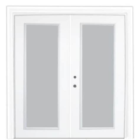 stanley doors 72 in x 80 in steel patio door with clear low e 600011 the home depot