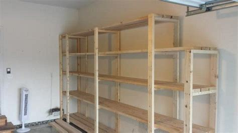 easy garage shelves easy garage basement shelving diy projects for everyone