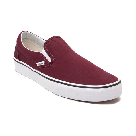 Vans Slipon vans slip on skate shoe burgundy 498988