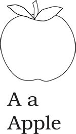 apple coloring page for pre k alphabet letters coloring pages