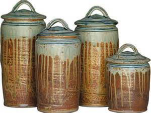 Ceramic Kitchen Canisters Sets stoneware canister set pottery and glass shaker workshops