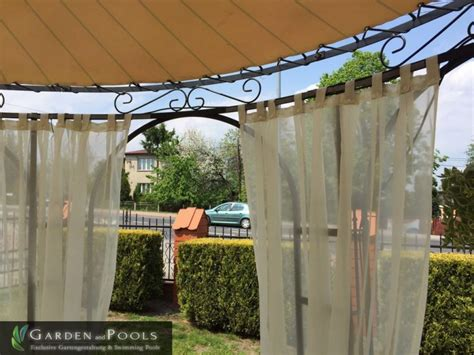 pavillon stoff stoff vorh 228 nge seitenteile f 252 r pavillons garden and pools