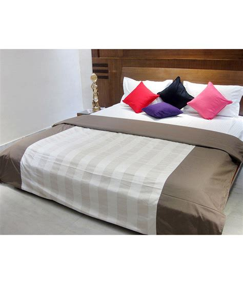 beige and white bedding aurave beige and white stripes cotton satin comforter