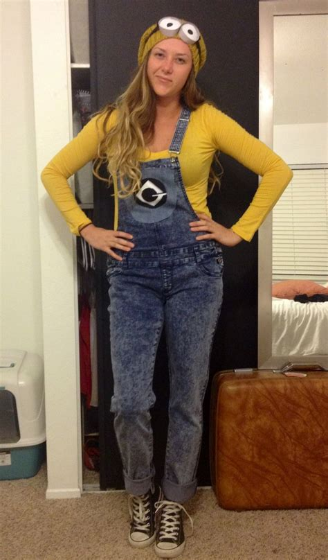 diy minion halloween costume overalls  shirt
