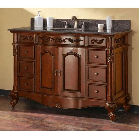 provence sink vanity provence 48 inch antique cherry vanity with imperial brown