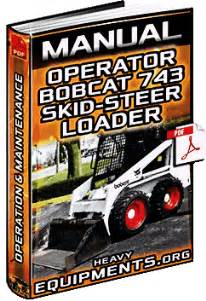 manual bobcat 743 skid steer loader operating