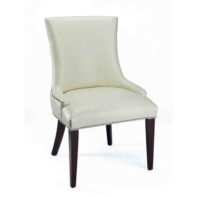 Leather Dining Room Chairs With Nailhead Trim Safavieh Mercer Collection Leather Dining Chair With