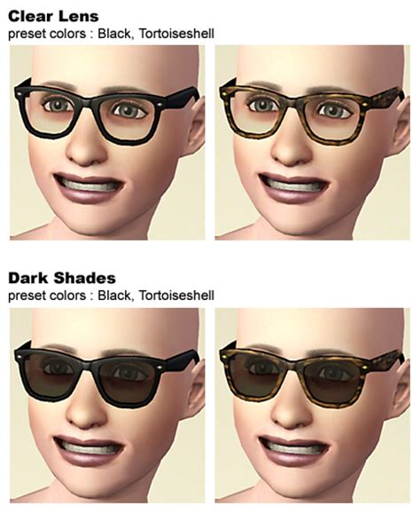 Frame Kpop Custom mod the sims quot wayfarer quot like eyeglasses