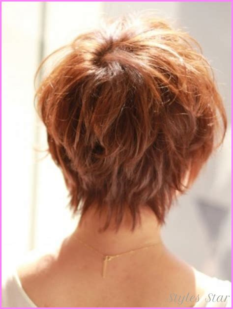 curly blunt cut short hair cuts back view short curly haircuts back view stylesstar com