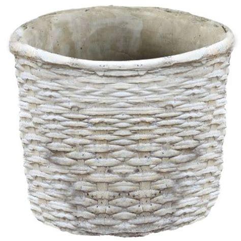 cement basket planter garden