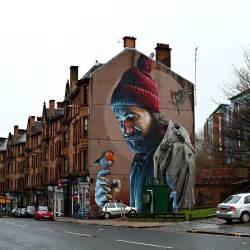 Painted Wall Mural nouvelle peinture murale photor 233 aliste de smug 224 glasgow