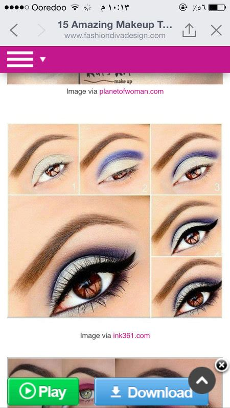 eyeshadow tutorial round eyes nice white and blue makeup tutorial for round eyes