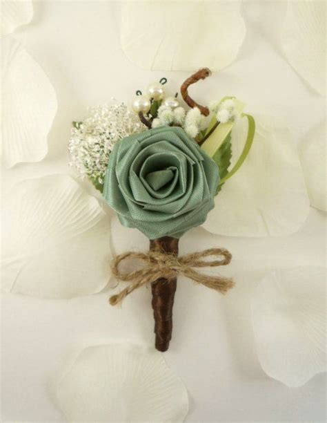 Origami Boutonniere - origami boutonniere ecology style groom