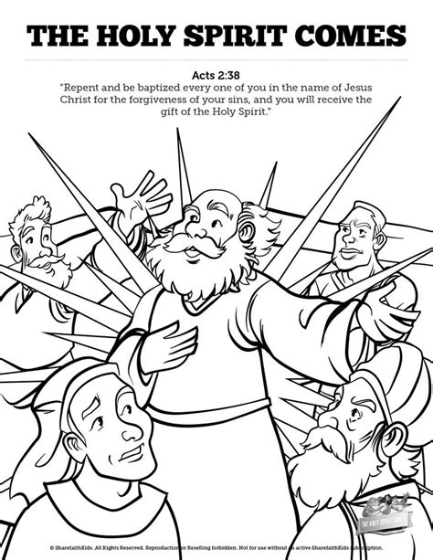 Holy Spirit Coloring Pages For Children by 36 Best Bible Nt Pentecost Images On Holy