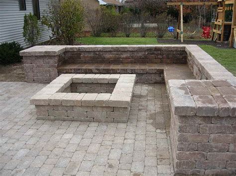 building a pit with pavers mj outdoor living pits