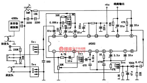 onboard audio integrated circuit function an262 the record playback prelifier integrated circuit audio circuit circuit diagram