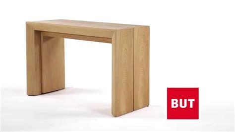 extensible table console extensible xxl couleur bois nature but youtube