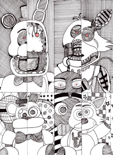 five nights at freddy s coloring book mega coloring book fnaf exclusive work books fnaf 2 coloring pages